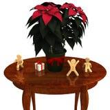 jaj tła Świąt kwitną szklankę odizolowywającego czerwonego poinsecja white Zdjęcie Stock