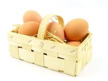 jaja świeże uprawiają Zdjęcie Royalty Free