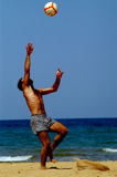 jaja plaży jego gry Zdjęcia Royalty Free