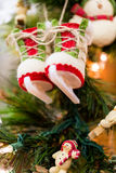 jaja pudełka gałąź święta handbell ozdób Zdjęcie Stock