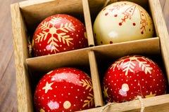jaja pudełka gałąź święta handbell ozdób Obrazy Royalty Free