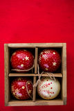 jaja pudełka gałąź święta handbell ozdób Obraz Stock