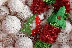jaja pudełka gałąź święta handbell ozdób zdjęcia royalty free