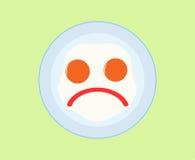 jaja smażyli ikonę Zdjęcia Stock