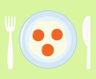 jaja smażyli ikonę Obraz Stock