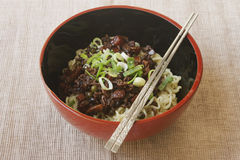 Jajangmyeon - Korean black bean paste noodle Stock Image