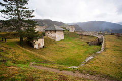 JAJCE, BOSNIA and HERZEGOVINA: Inside the old fortress of small Bosnian town Stock Photo