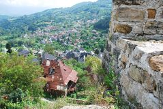 Jajce Seen From the Fortress Stock Photos