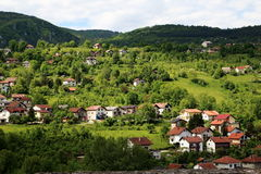 Jajce town Royalty Free Stock Images