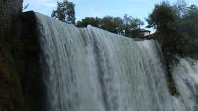 Jajce Waterfall Close Up stock footage