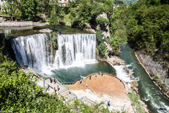 Jajce waterfall in summer Stock Photography