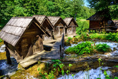 Jajce watermills, Bosnia and Herzegovina Stock Photos