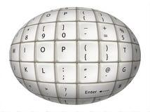 Jajeczna Biała klawiatura Zdjęcie Stock