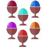Jajeczna ikony i wektoru ilustracja Obraz Royalty Free