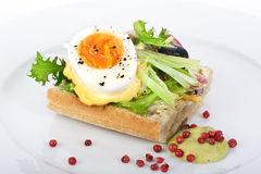 jajeczna kanapka Fotografia Royalty Free
