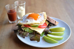 Jajeczna kanapka Zdjęcia Stock