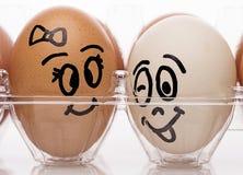 Jajeczna para Obraz Stock