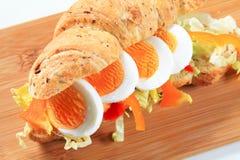 Jajeczna podwodna kanapka Obraz Stock