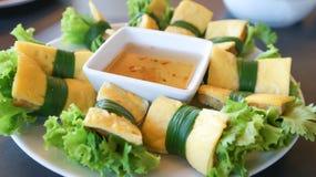 Jajeczna rolka lub wietnamczyka jedzenie Fotografia Stock
