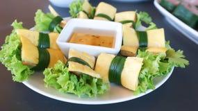 Jajeczna rolka lub Wietnamska rolka Obrazy Stock