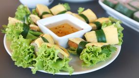 Jajeczna rolka, Wietnamska rolka Obrazy Stock