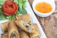 Jajeczna rolka, wiosny rolka lub Popiah w tajlandzkim stylu Fotografia Royalty Free