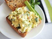 Jajeczna Sałatkowa kanapka Obrazy Stock