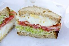 Jajeczna Sałatkowa kanapka Fotografia Stock