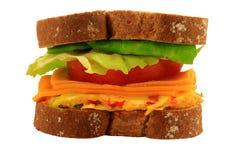 Jajeczna Serowa kanapka Obrazy Royalty Free