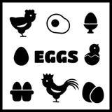 Jajeczne ikony Zdjęcie Royalty Free