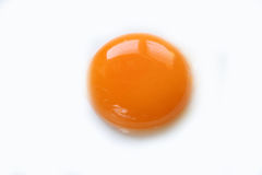 Jajecznego yolk zakończenie up Zdjęcia Stock