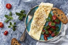 Jajeczny biały omelette zdjęcia stock