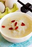 Jajeczny congee Zdjęcia Royalty Free