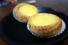 Jajeczny custard tarta Obrazy Royalty Free