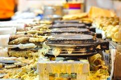 Jajeczny gofra kram, Hong Kong ulicy jedzenie Obrazy Royalty Free