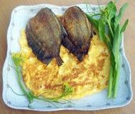 Jajeczny i rybi dłoniak Zdjęcia Stock