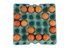 Jajeczny karton. Obraz Stock