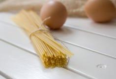 jajeczny makaron Zdjęcie Royalty Free