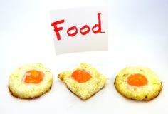 Jajeczny tercet na talerzu zdjęcia stock