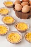 Jajecznych tarts custard kulebiaka słodcy desery. Zdjęcia Stock