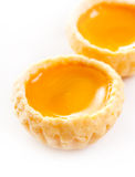Jajecznych tarts custard kulebiaka słodcy desery Zdjęcia Royalty Free