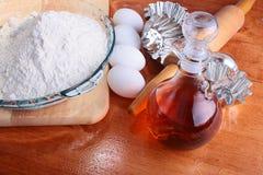 jajek mąki olej Fotografia Stock