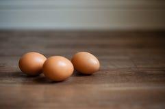 3 jajka Fotografia Stock