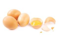 jajka biały Obrazy Stock