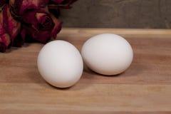 jajka dwa zdjęcia stock