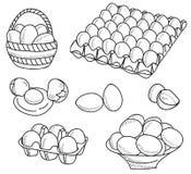 jajka ilustracyjni Obrazy Stock