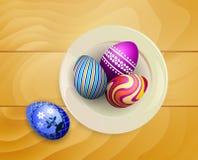 Jajka na drewnie Obraz Stock