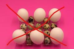 Jajka ograniczenia Bezpłatna Afektowana alergia Zakazujący projekt zdjęcie royalty free