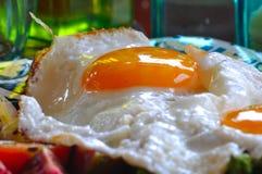 jajka popierają kogoś pogodny up Zdjęcie Royalty Free