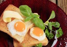 jajka smażąca grzanka Zdjęcia Royalty Free